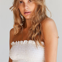 Truly Madly Deeply Loren Smocked Tube Top   Urban Outfitters