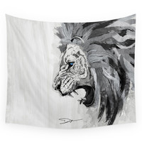 Society6 Lion - The King Of The Jungle Wall Tapestry