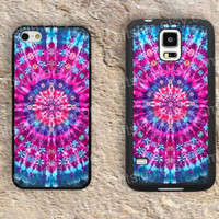 Hot Pink rainbow Mandala iphone 4 4s iphone  5 5s iphone 5c case samsung galaxy s3 s4 case s5 galaxy note2 note3 case cover skin