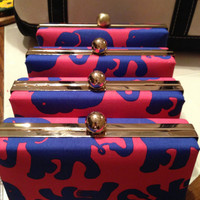 Lilly Pulitzer TUSK in SUN Hard Shell Clutch Purses Bag Game Day Sorority