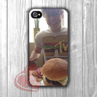 5 SOS Ashton Irwin and hamburger -sw for iPhone 4/4S/5/5S/5C/6/ 6+,samsung S3/S4/S5,samsung note 3/4