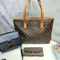 year end promotion 3 pcs of bags combination lv handbag hermes bag lv wallet