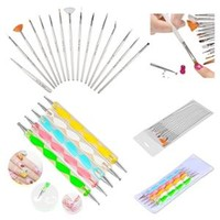 Walmart: INSTEN 20pcs Pack Nail Art Design Set Dotting Painting Drawing Polish Brush Pen Tools Silver