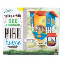 Creative Roots Build & Paint See-Through Bird House Kit (White)