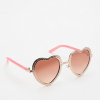 Urban Outfitters - Hammered Heart Sunglasses