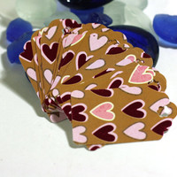 15 Metallic Heart Gift Tags - Medium 2 inch Hang tags great for retail stores, gift giving, party decorations, or favors