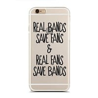 Clear Snap-On case for iPhone 5C - I Love Bands As Much As I Hate School - Teenager - Fangirl - Fanboy - Sassy - Funny - Hipster (C) Andre Gift Shop