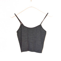 90's Grey Cropped Top size - S