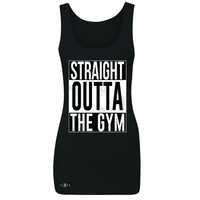Zexpa Apparel™ Straight Outta The Gym Women's Tank Top Workout Fitness Bodybuild Sleeveless