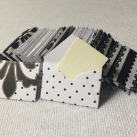 """Mini black and white envelopes with tiny note cards 1x1.5"""""""