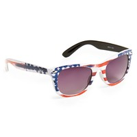Aeropostale Womens Flag Sunglasses - Blue/Red/White, One