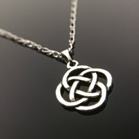 Celtic Knot Necklace Charm Necklaces Silver Celtic Knot Irish Jewelry Celtic Jewellery