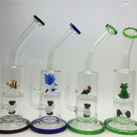 Two Functions Glass water pipes Cute Animal Funny Green Turtle Colorful bong Eagle Fish Frog Honeycomb Oil Rigs Bongs dab rigs oil rig heady
