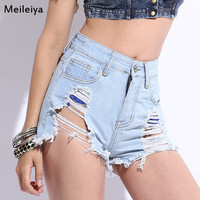 Summer Denim High Rise Club Women's Fashion Plus Size Slim Shorts [6034345793]