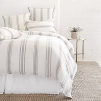 Jackson Cream & Grey Duvets by Pom Pom at Home