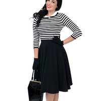 Black & White Striped Charlie Knit Sweater Top