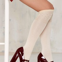 Knock Out Gold Knee High Socks