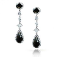 Bling Jewelry Black Out Earring