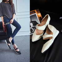 Hot Sale Comfort Hot Deal Stylish Casual On Sale Summer Wedge Sandals Pointed Toe With Heel Shoes Slim Sneakers [6048881665]