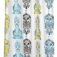 """Totem Pole Extra Long Fabric Shower Curtain Size: 70"""" x 84"""""""