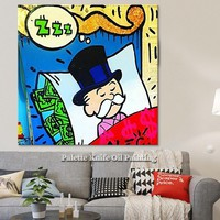 Alec Graffiti pop art print painting street art urban art on canvas Poster and print Wall pictures for living room home wall art