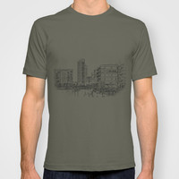 Clarence Dock Leeds Drawing T-shirt by Karl Wilson Photography
