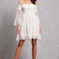 Aryn K Off-the-Shoulder Dress