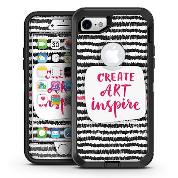 Create Art Inspire - iPhone 7 or 7 Plus OtterBox Defender Case Skin Decal Kit