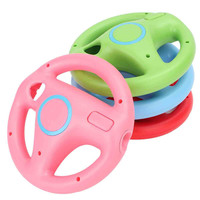 1Pcs Game Racing Steering Wheel Controller For Nintendo For Wii Racing Game Controlle For Mario Kart Remote Controller 4 Colors