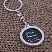 Creative photo frame couple key ring personalized photo key ring love key chain to commemorate the small gift