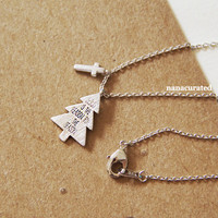 """Tiny Holiday """"Jesus Is The Reason For The Season"""" Necklace, Plated Necklace, Instagram, Holiday Gifts, Christmas Gifts, Minimal Jewelry"""