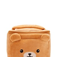 Fleece Bear Face Makeup Bag