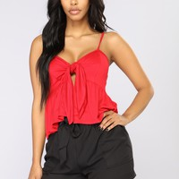 I'm Your Babydoll Top - Red