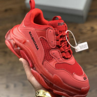 BB Balenciaga Sneaker Red Clunky Shoes with BOX