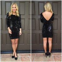 Sequin Little Black Dress