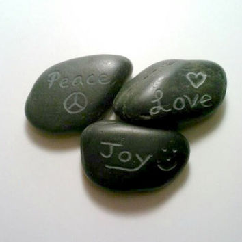 Engraved Rocks, Personalized Stones, ONE Custom Rock, Stone Paperweight