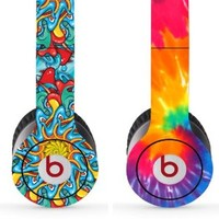 Skin Kit 2 Design Set for Solo / Solo Hd Beats By Dr. Dre - $1 Shipping! - (Headsets Not Included) - Psychedelic & Tie-dye