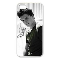 CTSLR Josh Hutcherson Protective Hard Case Cover Skin for Apple iPhone 5/5s- 1 Pack - Black/White - 2