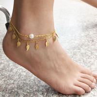 Sexy Simple Anklet Bracelet For Women Girl Gift pulseras tobilleras Beach Foot jewelry Gold Ankle Bracelets on the Leg