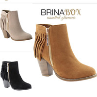 Tassel Fringe Booties 3 Colors