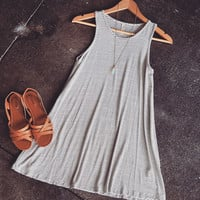 A Simple Striped Oatmeal Tank Dress
