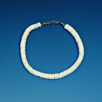 Anklet or Bracelet Puka Shell White Hawaiian Surfer SUP 5235 6273