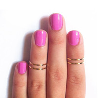 Gold Midi Rings (Set of 2)