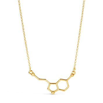 Happiness Serotonin Molecule Necklace