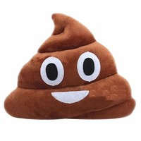 Froomer Stuffed Pillow Cushion Emoji Poop Shaped Smiley Face Doll Toy 1 PC