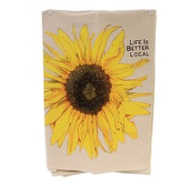 Home Decor LIFE IS BETTER LOCAL TEA TOWEL Kitchen Dishes  Sunflower Tt Sunflower