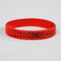 Red Web Pattern Motivational Wristband