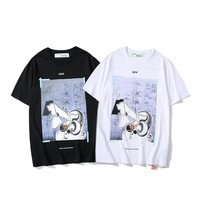 hcxx 2186 Off White Casual Loose T-Shirt