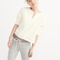 Womens Cushy Knit Henley Pullover | Womens Tops | Abercrombie.com