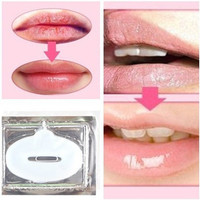 10pcs Collagen crystal lip mask, hydrating whitening play down lip color lip wrinkles